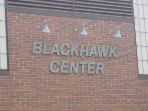 Blackhawk Building Lettering